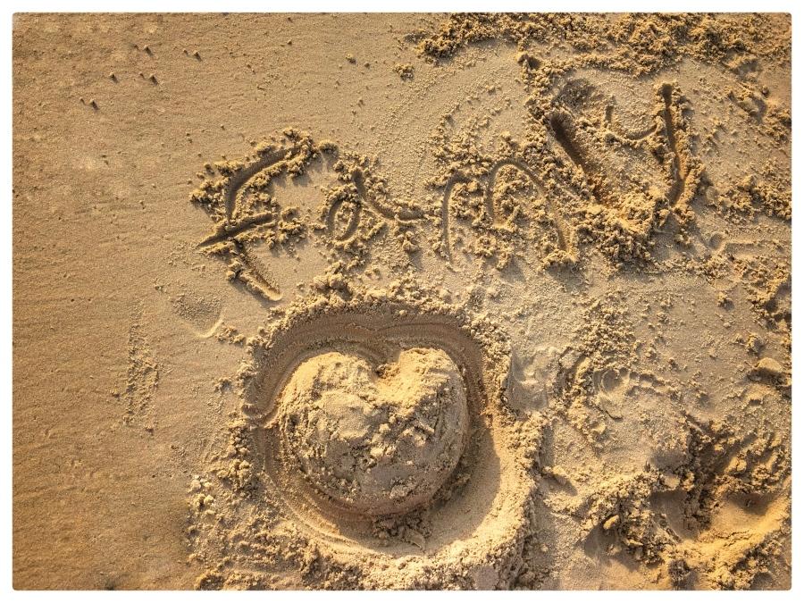 Tarifa Beach Family Heart